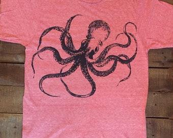 Kraken Octopus T-Shirt Made in USA  S M L XL or XXL