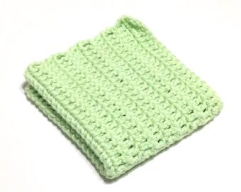 Pistache Crocheted Square Dish Cloth