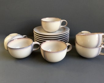 Thomas Germany Ombra Cup and Saucer Set for Rosenthal : thomas pottery dinnerware - pezcame.com