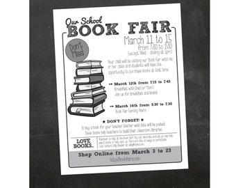 Custom Printable Book Fair School Flyer - PTA Flyer