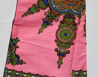 Pink Dashiki Ankara Fabric; African Clothing; African Fabric in yard; African Headwrap;Ankara Fabric in yards;African Fashion