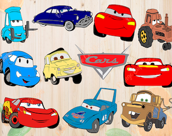 Disney Cars Svg, Layered Cars movie Svg, Dxf, Eps & Png Cutfiles, Cars files for Cricut, Silhouette cameo, Layered Disney cars Clipart, Cut