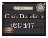 Custom Police Line Up Sign Printable ~ Personalized Event & Date Bachelorette Photo Booth Prop ~ Prohibition Speakeasy 1920s Gatsby Party