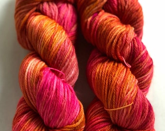 Azalea- 100% Superwash Merino, Worsted weight wool