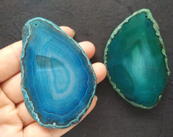 Extra Large Giant Faceted Green Agate Pendant  -As Pictured -#160926030