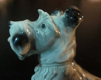 Antique German Porcelain Dog Figurine by Carl Scheidig, Grafenthal, Germany