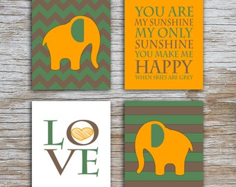 Kids (D) - You Are  My Sunshine - Elephant - Camo - 4 Parts - (Digital Download, Instant Download, Printable)