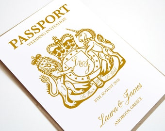Passport Invitation, Travel Destination Wedding Invitation - SAMPLE