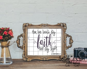 Inspiritional Faith Quote SVG Vector Printable Cutable