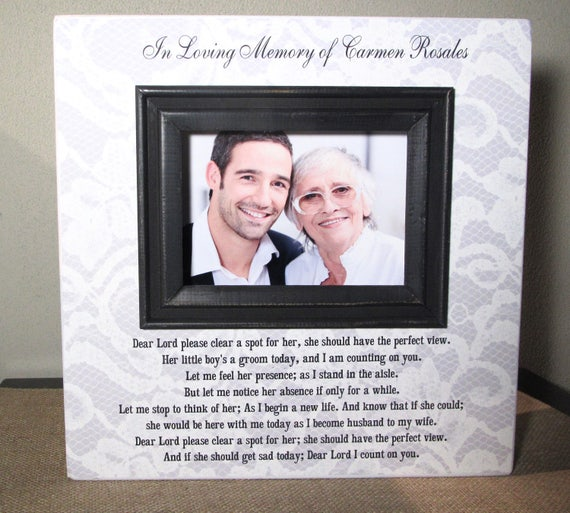 Personalized In Loving Memory Mother of the Groom Wedding Picture ...