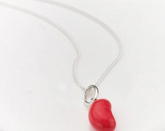 Raspberry Jelly Bean Necklace