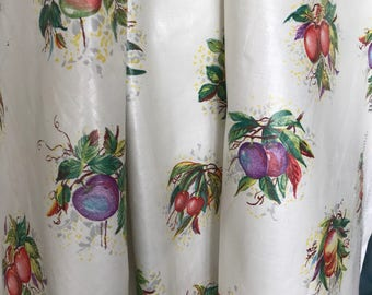 Very old polished chintz fabric by the Lenox Group, 3 yds