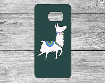 Cute Llama TPU Case For Samsung Galaxy S6, S7, S8 (S2341)