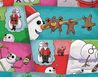 the inappropriate snowman christmas wrapping paper - Funny Christmas Wrapping Paper