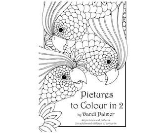 Pictures to Colour In 2. 44 different pages to download and print out.