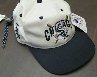 Vintage Deadstock Chicago White Sox Hat with Pull Strings - Mint Condition