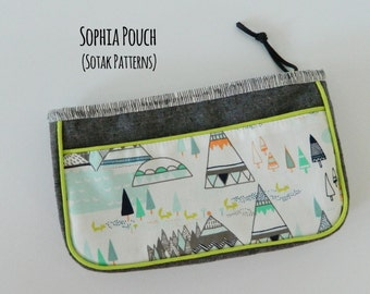 Sophia Pouch {PDF sewing pattern}