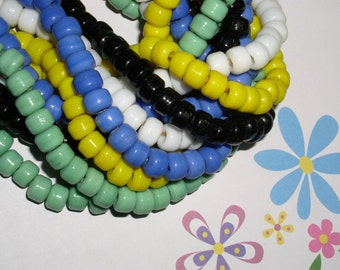 VIOLET BLUE African Trade Padre Crow Beads (32)