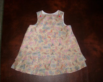 Hand Made Cotton Lined Dress - 2-3 years