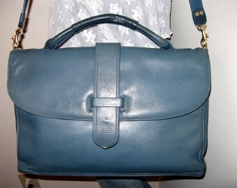 Spinneybeck genuine Italian butter smooth leather ex large messenger bag laptop bag briefcase unique very very rare
