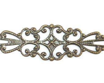 12 Filigree Corner Components Antique Brass Plated 34170