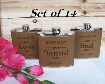 14 Personalized Groomsman Flask