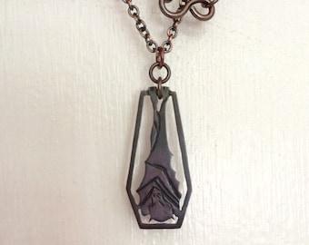 Hanging bat Necklace