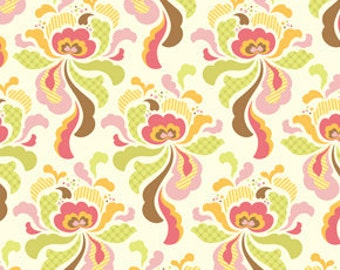 42053 -   Heather Bailey Freshcut  Groovy  in brown - 1/2 yard