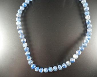 "SALE on 15"" Strand of 6 mm Denim Lapis Beads."