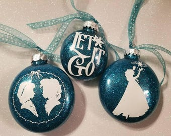 Frozen Inspired Christmas Ornaments