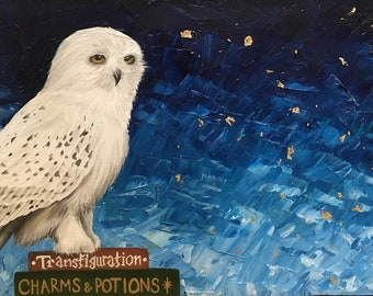 HP Snowy Owl Original Painting
