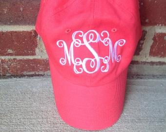 Monogram Women's baseball hat, Embroidered hat, personalized women's baseball hat