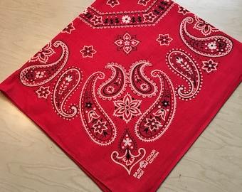 Vintage 1980's Red Bandana