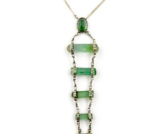 Towered Tourmaline Crystal Pendant Necklace by Turquoise Kingdom