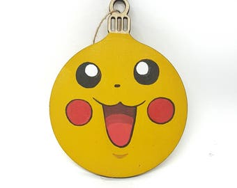 Hand-painted Christmas Bauble - Pikachu