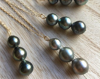 Tahitian Pearl Stack Necklace