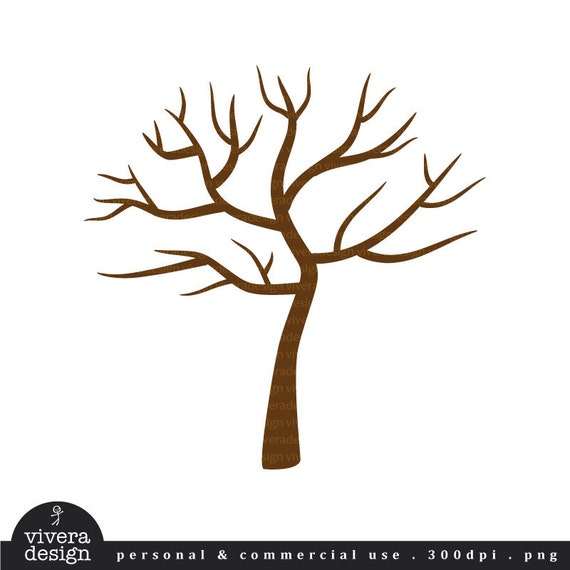 digital clip art tree with no leaves winter tree perfect rh etsy com winter tree clip art black and white winter tree scene clipart