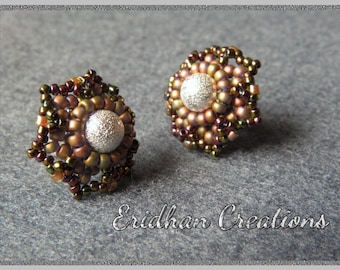 Flower stud earrings - tutorial