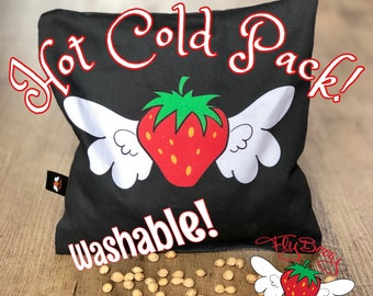 Gift for Her, Cherry Pit Pillow Flyberry, Microwaveable Heating Pack, Back Pain Relief,  Back Pain, Unique Gift for Mom, Fruit Lover Gift