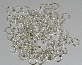 8mm Silver Plated Jump Rings - Choose Your Quantity