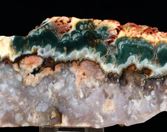 Beautiful Rare PrueHeart Plume Agate Slab- A141