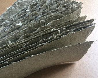 Florish Paper, 8.5x11 inch, Flower stem paper, handmade paper, raw plant paper, rustic paper, homemade paper, natural paper, textured paper