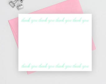 Wedding thank you cards set, Wedding Stationery, thank you notes, thank you cards wedding, thank you note cards, flat notecards, TC1