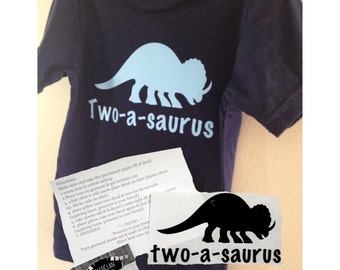 Dinosaur shirt decal - two a saurus - dinosaur shirt - dinosaur party shirt - two-a-saurus - birthday shirt - dino shirts - dinosaur tshirt