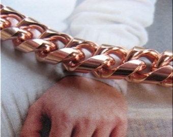 Men's Copper Bracelet,  5/16 of an inch wide -  CB624G - Available in 8 to 11 inch lengths. - Made in the USA.