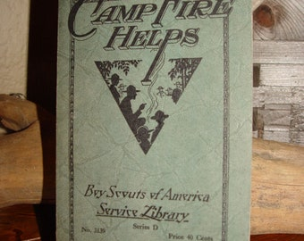 1930 Camp Fire Helps ~ Vintage Boy Scouts of America Service Library Series D No. 3139