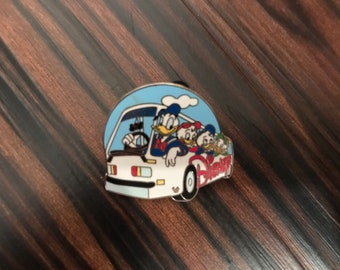 DONALD DUCK driving the Epcot Bus with Huey Dewey and Louie Disney Pin