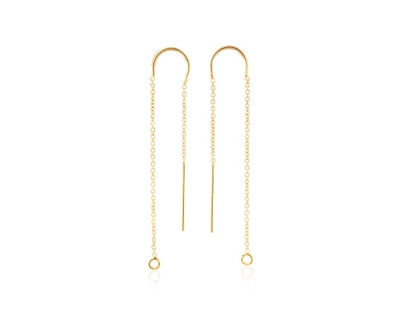 disk plated chain modern earring gold women minimal small long coin item earrings color simple golden dangle