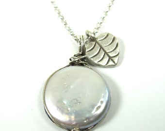 Perfect Pearl, Sterling Silver, Hill Tribe Fine Silver Necklace