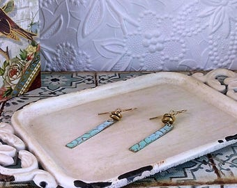 Handmade Hammered Brass Earrings